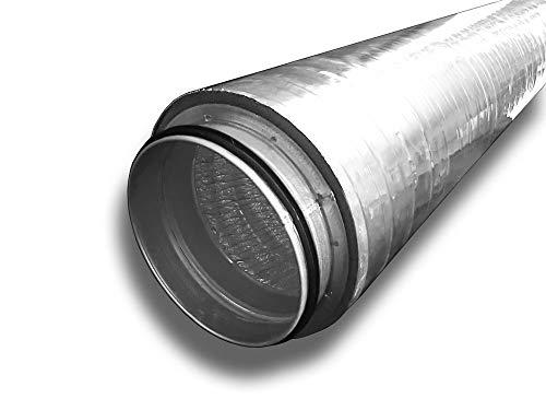 Isoliertes Rohr Lüftungsrohr isoliert Isolierrohr Abluft Zuluft System Ø 150, Länge 0,5 m