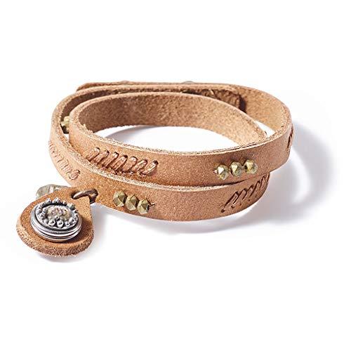 NOOSA PETITE Armband WABI SABI PEACEFULNESS natural - ohne Chunk Größe S