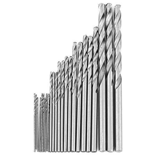 Drill Bit 16 pcs/Set, HSS Straight Shank Electrical Tool T-wist Drill Bits 0.8-1.5mm Durable