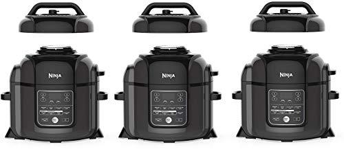 Ninja OP401 Foodi 8-Quart Pressure, Steamer, Air Fryer All-in- All-in-One Multi-Cooker, Black/Gray (Thrее Расk)