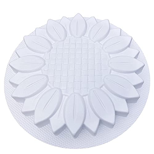 AUTUMN Made in USA Sunflower Stepping Stone Mold, Concrete Cement Mold, Stepping Stones for Garden Walkway, DIY Walkway Stepping Stones, Flower Statue for Garden, Flower Garden Decor Mold