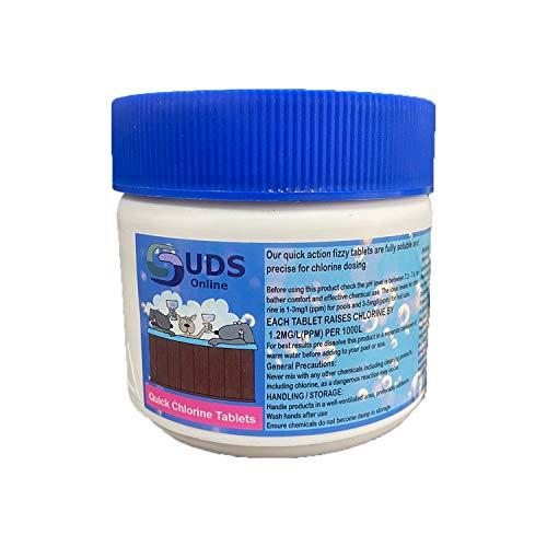 SUDS-ONLINE Instant Chlorine Tablets - 166 x 3g Fast Dissolving Chlorine...