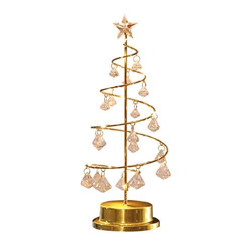 Luz de Nocturna En el árbol de navidad LED de la cubierta de cristal con la hada cadena luces En Cúpula luz de la noche de Navidad festiva de la lámpara Decoración Año Nuevo Adornos ( Color : 02 )