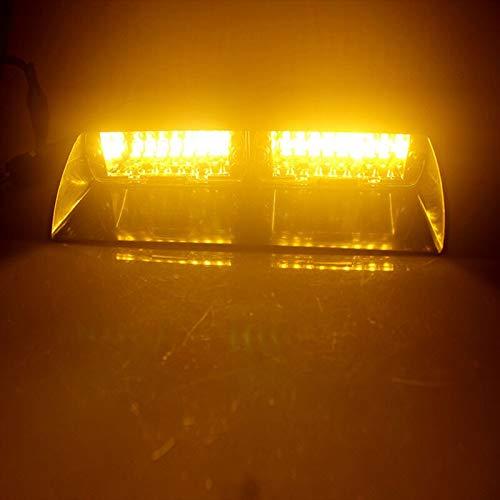 Julymall Universal-12V 16LED Strobe-Lichter Sucker Beleuchtung Blitzleuchten Warnleuchten S2 Schaufel Lichter Kanal Lichter für Explosion Modell (4,4800Lm)