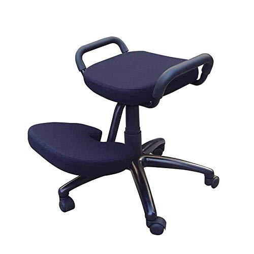 BXU-BG Ergonómica Rodillas Silla, sillas de Oficina en casa Grueso cojín del Amortiguador Flexible del balanceo de Estar Escritorio Ajustable heces (Color: Azul, tamaño: 63 * 73 * 57 cm)