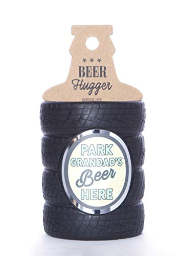 Boxer Gifts Park Grandads Beer Tyre Shaped Bottle Cooler Sleeve | Novelty Insulator Neoprene Hugger | Great for Parties and BBQs | Funny Birthday for Him