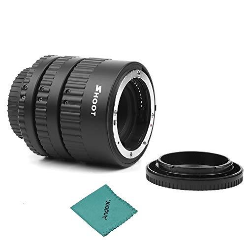 Shoot XT-365 - Juego de Anillos de extensión automáticos para cámaras réflex...