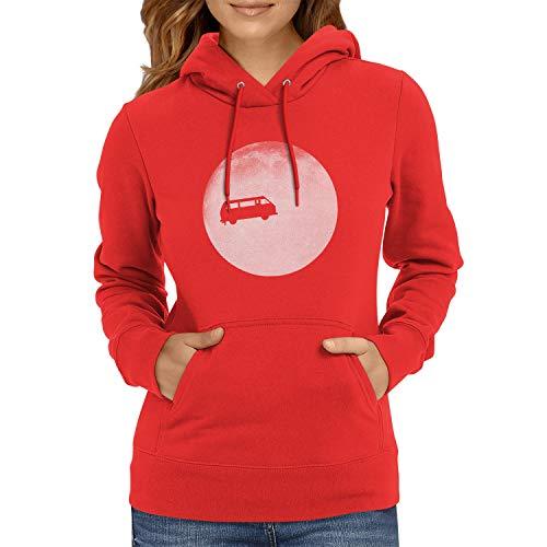 NEXXUS Full Moon Bulli T3 - Damen Kapuzenpullover, Größe XL, rot
