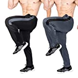 Brooklyn-Jax 2-Pack Men's Essential Track Pants. Active wear for Sports Activities, Soccer, Football, Baseball, Training, Basketball, Volleyball, Track (Set-3, X-Large)