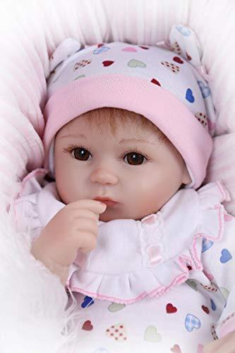 iCradle Schöne 17Zoll 43cm Weiches Silikon Lebensechte Puppen Babys Handgemachtes Reborn Baby Mädchen Silikon Vinyl Realistische Puppe