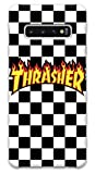Featuring Thrasher Compatible with Samsung Galaxy S10+ Plus Soft Decorative Phone Case 【Express Shipping】 Cover Cute Girly Pink Accessories (A) Black and White