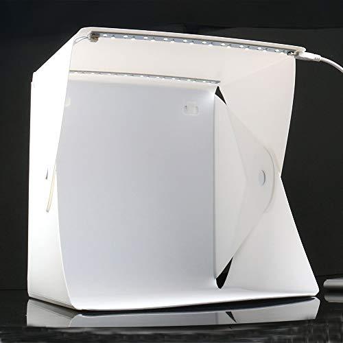 Zhice Mini Estudio Plegable difuso Caja de Caja de Caja Suave con Fondo de luz LED Photo