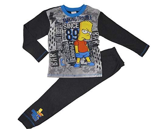Bart Simpson The Simpsons Jungen-Schlafanzug, Pyjama, Pyjama, Nachtwäsche, Loungewear Gr. 110, Bart Simpson