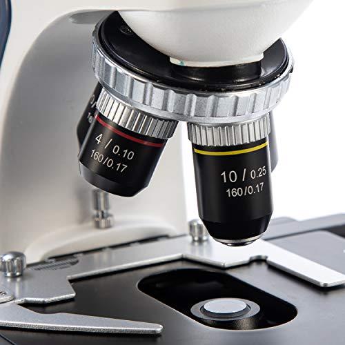 SWIFT SW380T Trinokulares Durchlicht Mikroskop 40X-2500X-Vergrößerung,Siedentopfkopf,Labor mikroskop für Forschungszwecke mit WF10X/25X Okular, Ultra präzise Fokussierung,Kamera-kompatibel