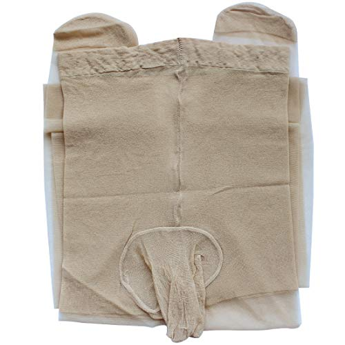 iiniim Herren Männer Strumpfhose Pantyhose mit Penishülle Hosen Tight Unterwäsche Mehrfarbig Nackt Einheitsgröße