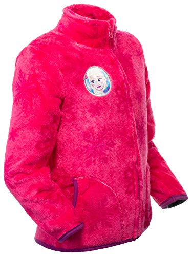 Brandsseller Kinder Fleece Eiskönigin Kuscheljacke Stehkragen 98/104 Rosa