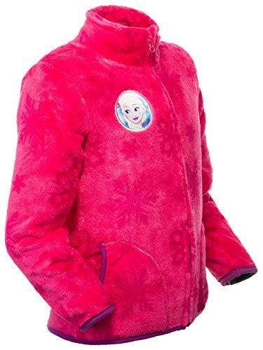 Brandsseller Kinder Fleece Jacke Eiskönigin Kuscheljacke Stehkragen 110/116 Rosa