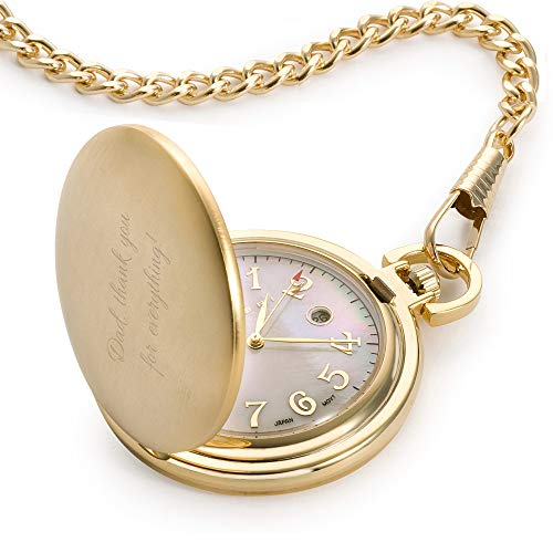 Things Remembered Personalized Gold Tone Pocket Watch with Engraving Included