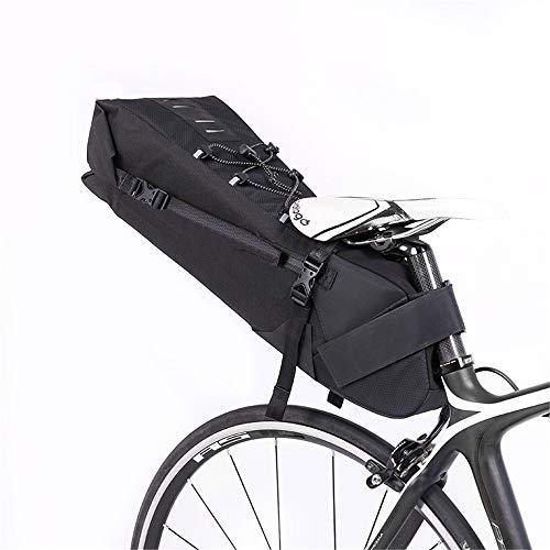 Jinzsnk-Sport Bike Seat Packs Grote capaciteit Fiets Zadeltas Volledige Waterdichte En Stoere Shell | Gesp Installatie Fietstas voor MBT of Road Bike Seat