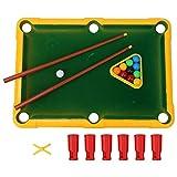Juguete plástico ecológico de la Tabla de Billar del diseño de la Esquina Redondeada, Juguete de los billares, para el Muchacho de los niños(Yellow)