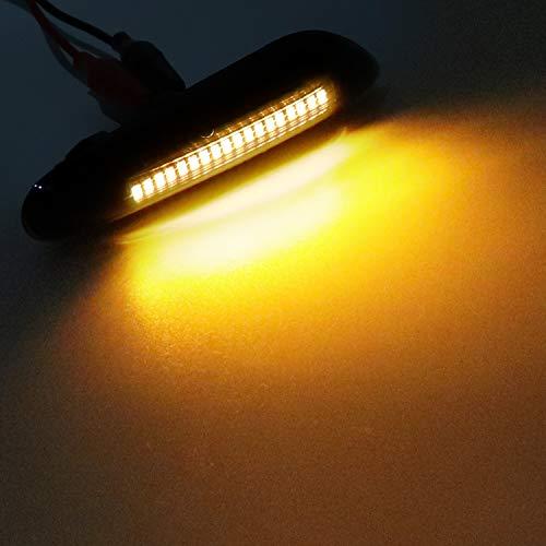 ZTMYZFSL 2 X LED Blinker Seitenblinker Blinkleuchte Dynamisch Laufblinker Kotflügel-Blinker black vision (For BM Blinker)