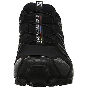 Salomon Speedcross 4, Zapatillas de Trail Running para Hombre, Negro (Black/Black/Black Metallic), 46 EU