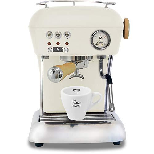 Ascaso Dream Up V3 Sweet Cream PID Wood Handle Semi-Automatic Espresso Machine - w/Ascaso Cup & Saucer