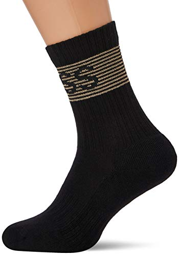 BOSS Herren QS Rib Shine Logo CC Tennissocken, Black1, 39-42