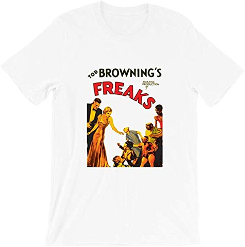 Tod Browning Freaks Monsters Show Movie Black White Horror Halloween Film Vintage Gift Men Women Girls Unisex T-Shirt,White,4X-Large