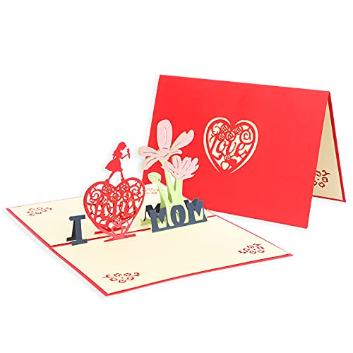 Happy Birthday Mum Cards Pop Up Karte 3D Grußkarte Bouquet Geburtstagskarte Grußkarte für Mama, Schätzungskarte, Jubiläumskarte
