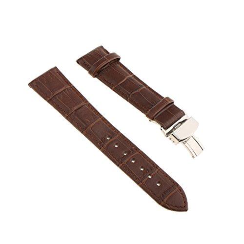 Cinturino Orologio da Uomo Vintage Universale in Vera Pelle 18mm 20mm 22mm - caffè 22mm