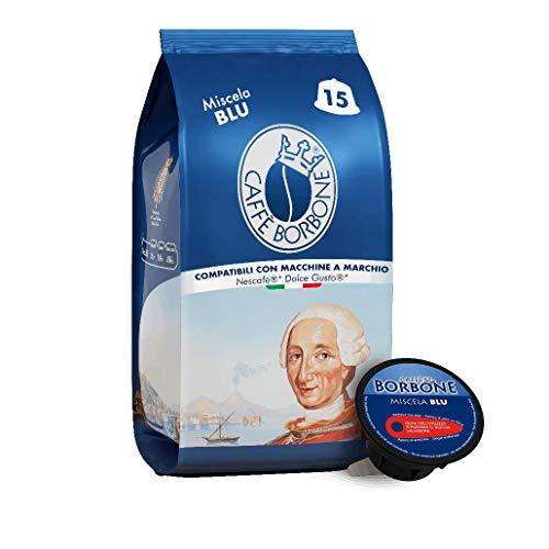 Caffè Borbone Miscela Blu - 90 capsule (6 confezioni da 15) - Compatibili con le Macchine Nescafè®* Dolce Gusto®*