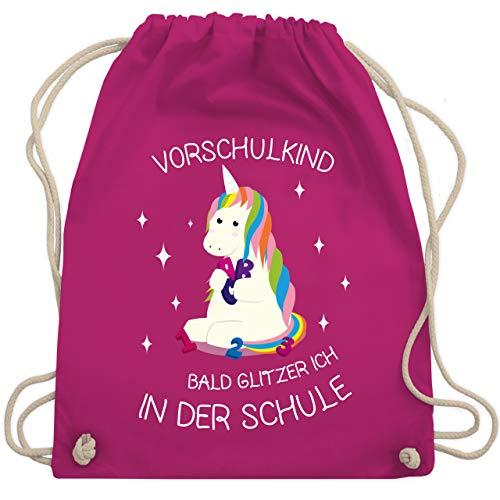 Shirtracer Einschulung und Schulanfang - Vorschul-Kind Einhorn - Unisize - Fuchsia - schulanfang geschenk...