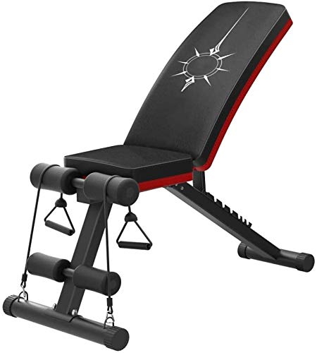 Yankuoo Multifunctionele opvouwbare zitbank Verstelbare gewichtheffen Bed Fitness Training Gewichtheffen Bed Lichamelijke Oefening, Rugleuning/Stoel, Verstelbare Dumbbell Bank