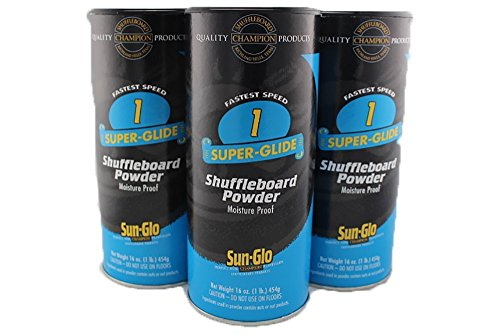 Buy Cheap 3 Pack of Sun-Glo #1 Speed Super-Glide Shuffleboard Powder Wax