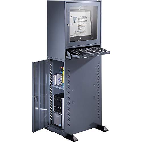 QUIPO Computerschrank | HxBxT 1625 x 600 x 350 mm | Workstation PC-Schrank Schrankschreibtisch