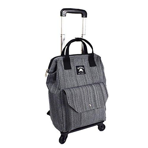 [神戸リベラル] ショッピングキャリー リュック カート キャリーバッグ 横押し 機内持ち込み 完成品 903 (ブラックヘアライン加工)