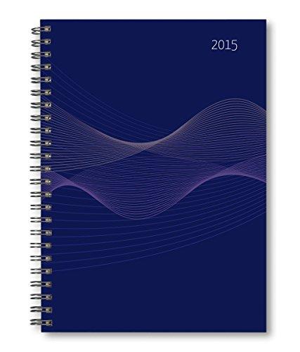 Wochenplaner PP-Einband blau 2015 - Kalender-Ringbuch A5 / Cheftimer A5 - Ringbindung - 1 Woche 2 Seiten - 128 Seiten