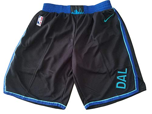 canottejerseyNBA Luka Doncic - Dallas Mavericks #77, Basket Jersey Maglia Canotta, Swingman Ricamata, Abbigliamento Sportivo (S, Shorts Nero City Edition '19)