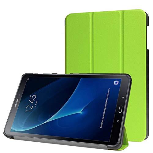 Hülle für Samsung Galaxy Tab A SM-T580 SM-T585 10.1 Zoll Schutzhülle Etui Tablet Tasche Smart Cover (Grün) NEU