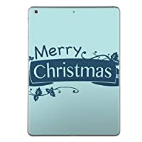 igsticker 第1世代 iPad Pro 9.7 inch インチ 共通 スキンシール apple アップル アイパッド プロ A1673 A1674 A1675 タブレット tablet シール ステッカー ケース 保護シール 015964 クリスマス 文字 青