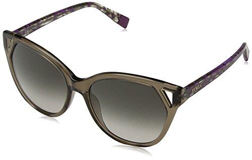 Furla Eyewear Mujer N/A Gafas de sol, Marrón (Shiny Transp.Brown), 55