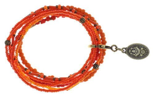Konplott Armband Elastic Petit Glamour d´Afrique orange antik Messing