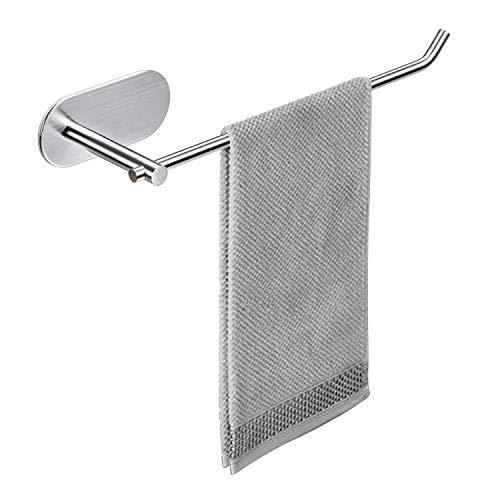 Toallero autoadhesivo para pared, barra de acero inoxidable, soporte para toallas de mano, para baño o cocina
