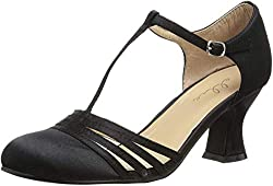 1920s womens flapper style shoes in black