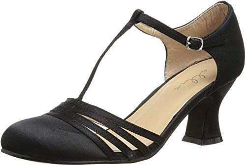 Ellie Shoes Women's 2 1/2 Inch Heel Satin Dance Shoe (Black;12)