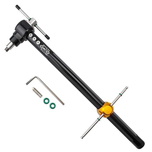 CARACHOME Herramientas de reparación de Bicicletas de Alta Resistencia, Calibrador Compacto de alineación de suspensión de Cambio para Bicicletas de Carretera y MTB