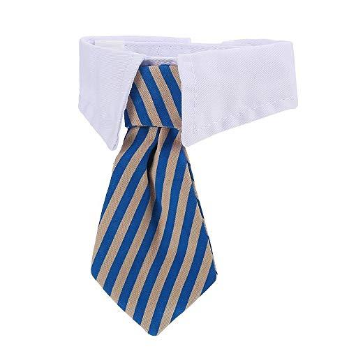 DULEE Corbata para perros, pajarita y gato, para mascotas, azul y gris, talla S