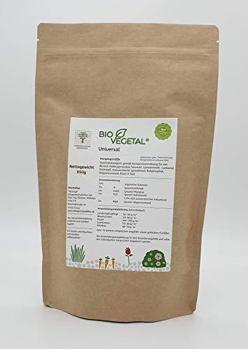 BioVegetal organisch-mineralischer Universal-Dünger mit Guano und natürlicher Langzeitwirkung durch Fixierung der Nährstoffe durch Ton-Humus-Komplex, 850 Gr. Standbodenbeutel