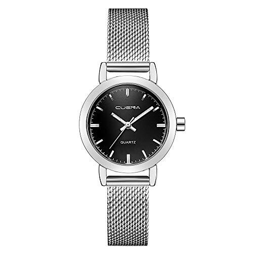 Neuer Trend Armbanduhr Damen Ultradünne Edelstahl Uhren, Frauen Women Einfache Klassisch Analog Quarz Uhren Kleid mit Mesh Wrist Watch Damenuhren Fashion Geschenk Ausverkauf LEEDY